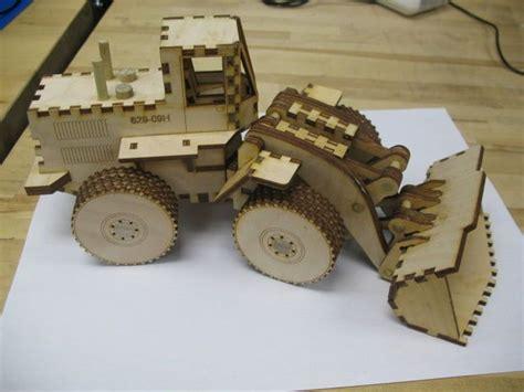 laser cut front  loader toy laser project ideas