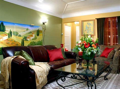 tuscan inspired living room hgtv
