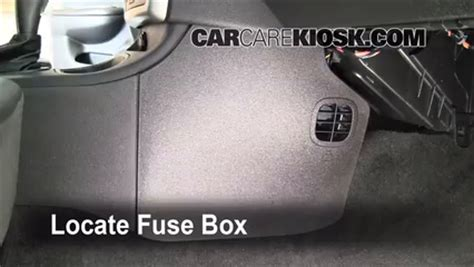 2010 Chevrolet Cobalt Fuse Box by Interior Fuse Box Location 2005 2010 Chevrolet Cobalt