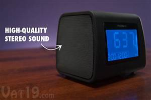 Moshi Digital Alarm Clock Radio: Voice-Activated AM/FM ...
