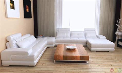 Gray Modern Sofa by Phantom Modern Gray White Leather Sectional Sofa