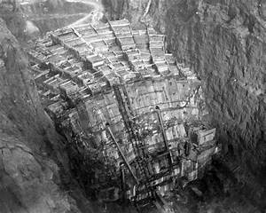 The Rarely Seen Back Of The Hoover Dam Before It Filled