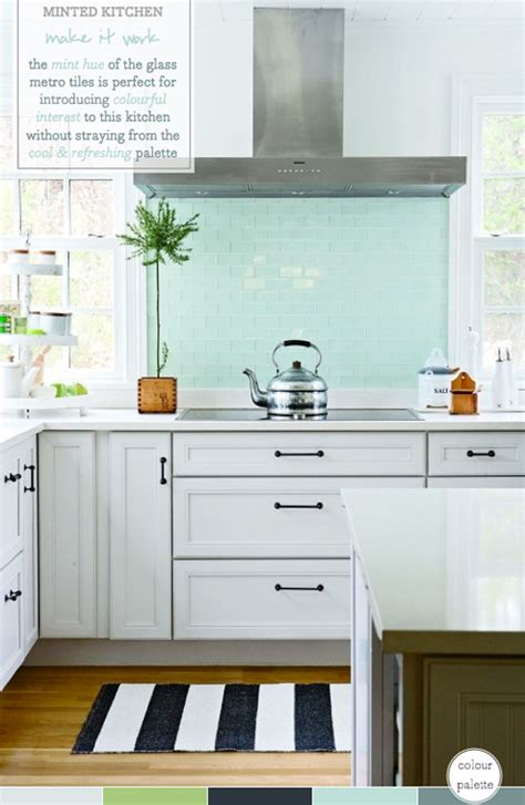 palette addict mint green kitchen splashback bright