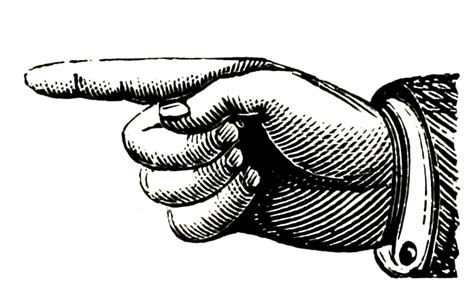 pointing finger clipart clipart