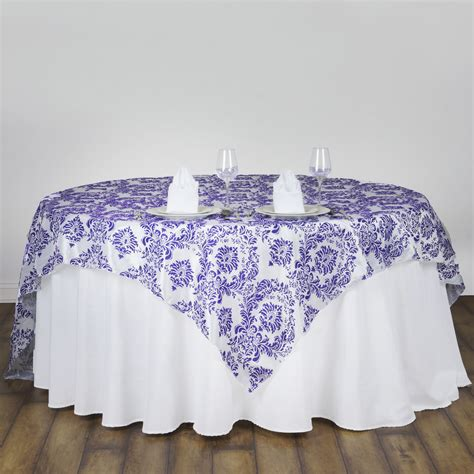 wholesale table linens for weddings 10 pcs 90x90 quot damask flocking table top overlays wedding