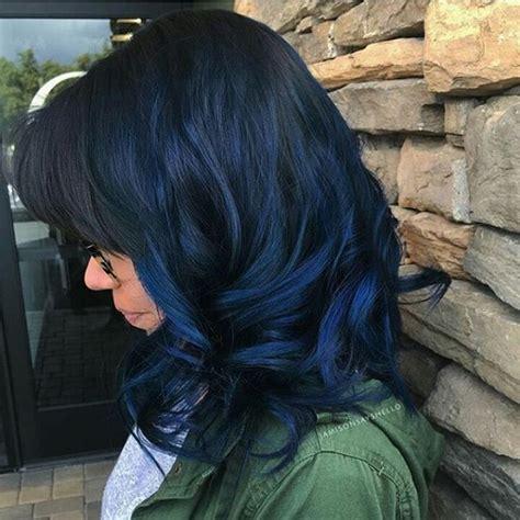 las mejores 25 ideas para el color cabello en negro y azul peinados