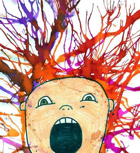 tecniche  pittura  bambini  idee  colorare