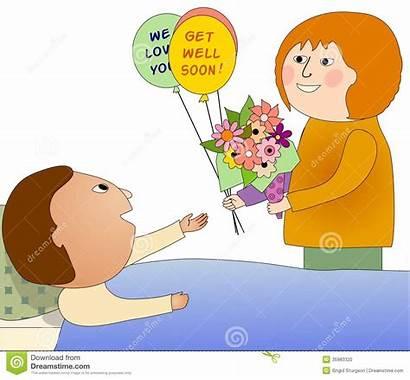 Person Sick Visiting Persona Visita Flowers Malata