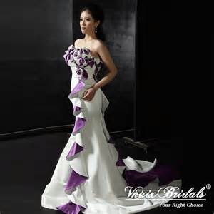 white gown wedding dresses white and purple wedding gowns are glamorous the wedding specialiststhe wedding specialists