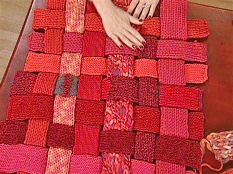 woven woolen rug diy