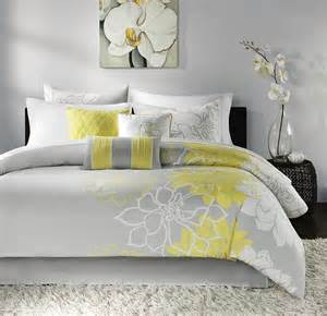 yellow grey white simple modern bedding sets ease bedding with style
