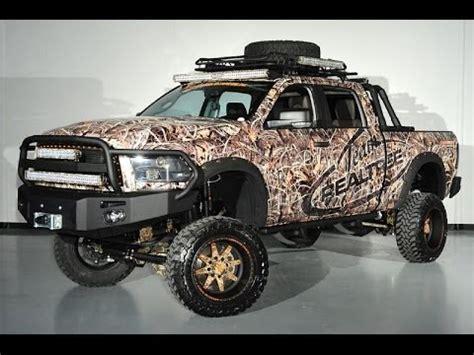 ram  diesel big horn custom camo lifted truck