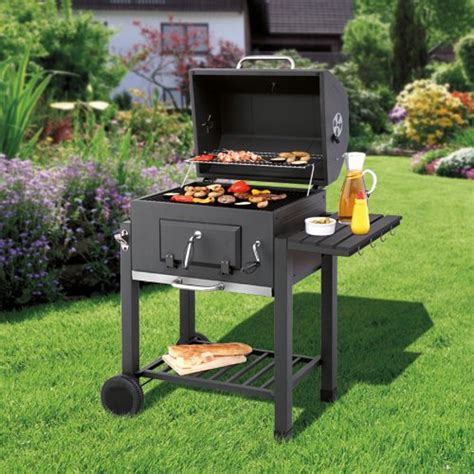 grill side table outdoor toronto charcoal bbq grill with side table