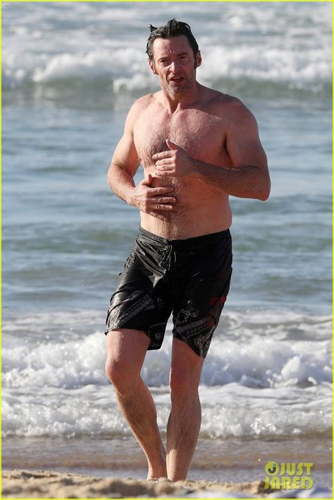 jared harris daughter hugh jackman shows off his hot bod at the beach photo