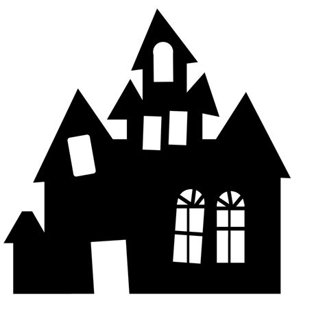 haunted house silhouette    haunted