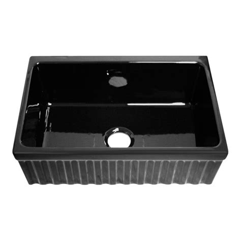 black single bowl kitchen sink whitehaus collection quatro alcove reversible farmhaus 7902