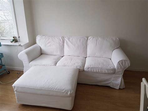 Ikea Three-seat Sofa (ektorp) White + Matching Storage
