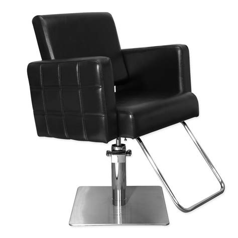 quilted stylist chair black salon styling chair