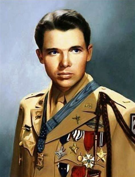second most decorated soldier of all time audie murphy in dress us army he was the