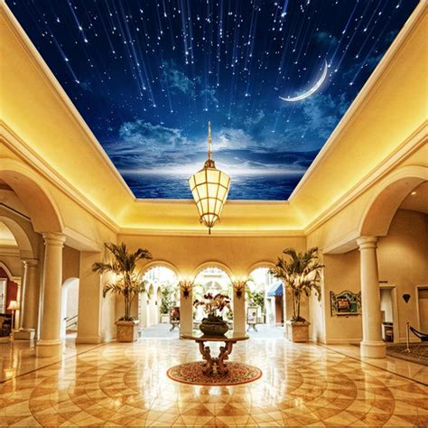 3d Galaxy Wallpaper For Ceiling by Galaxy Wallpaper 3d View Photo Wallpaper Bedroom Ceiling