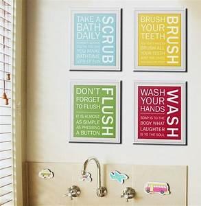 art for kids39 bathrooms With bathroom artwork ideas