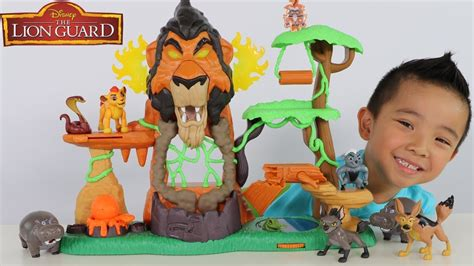 Disney The Lion Guard Toys Rise Of Scar Playset Unboxing