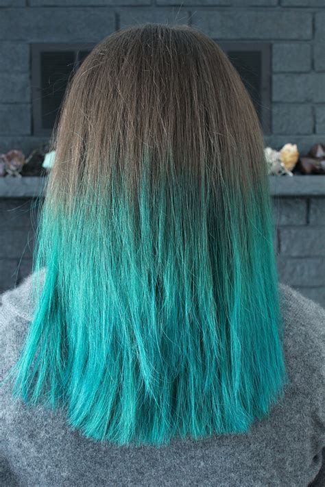 color dye hair two years of turquoise dip dyed hair rainbow hair faq