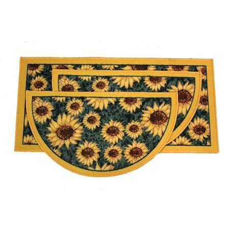 Kitchen Rugs Sunflowers by Kashi Home Sunflower 3pc Kitchen Rug Set 2 Slice 18 Quot X30
