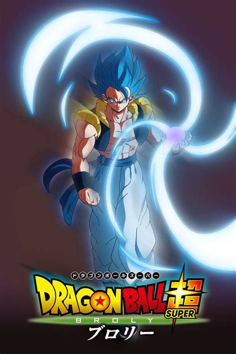dragon ball super broly  gogeta blue poster inxin