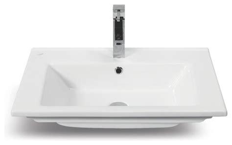 Self Bathroom Sink by Rectangular White Ceramic Self Bathroom Sink