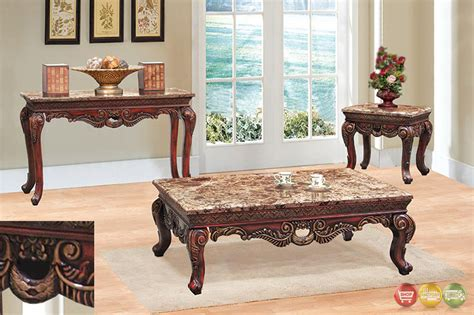 traditional  piece living room coffee  table set