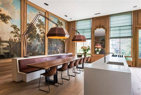 meubelen b park amsterdam canal house kitchen and dining area interior