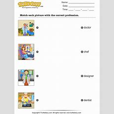Match Profession With Pictures Worksheet  Turtle Diary