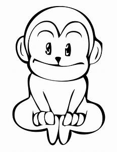 Cute Monkeys Coloring Pages Getcoloringpagescom
