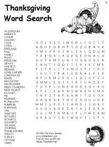 thanksgiving printable activities top 10 word search