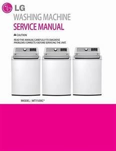 Lg Wt7500cw Top Load Washer Service Manual  U0026 Repair Guide