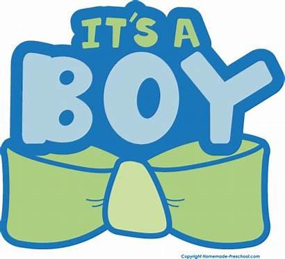 Boy Its Clipart Shower Clip Reveal Gender