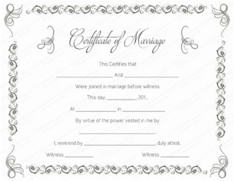 marriage certificate template free printable marriage certificate templates editable printable