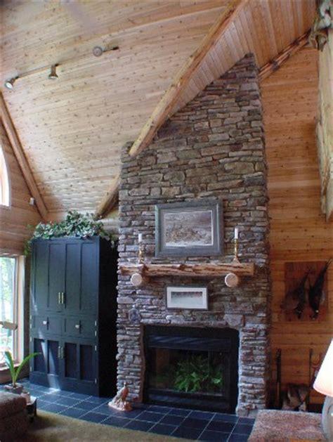 sherwood cedar log home optional fireplace