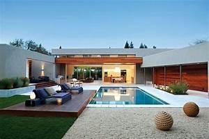 amenagement piscine que doit on savoir With jardin avec piscine design