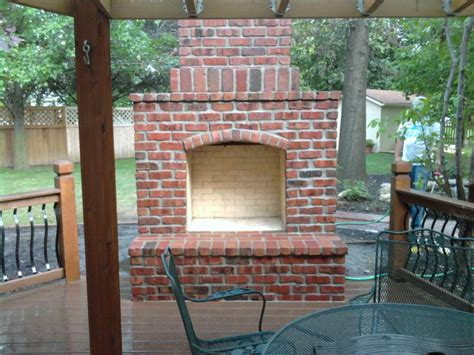 Brick Outdoor Fireplace  Fireplace Design Ideas