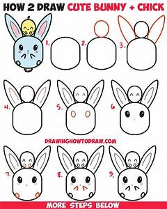 The Images Collection of To draw cute kawaii chibi bunny ...
