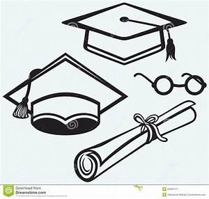 Student Accessories. Graduation Cap, Points And Di Cartoon ...