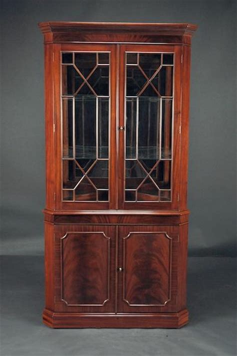 corner china cabinet high end mahogany corner china cabinet for dining room
