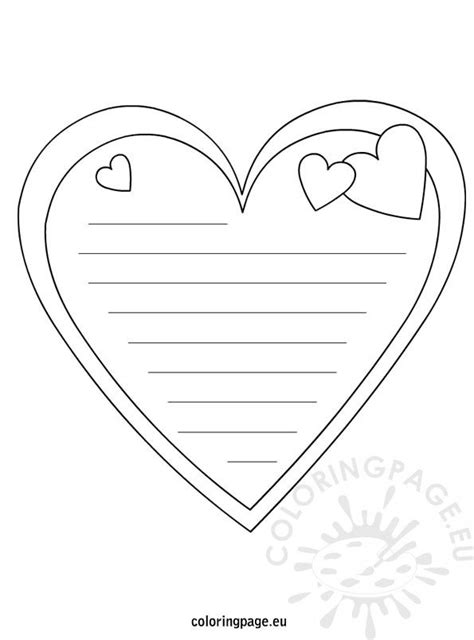 heart note paper coloring page