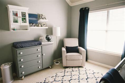 Grayson's Modern Grey, Navy And White Nursery