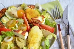 Salade Poulet Avocat : salade au poulet au fromage manouri et l 39 avocat ~ Melissatoandfro.com Idées de Décoration
