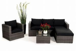Gartenmöbel Lounge Rattan : rattan lounge brooklyn das gartenm bel set f r terrasse ~ Indierocktalk.com Haus und Dekorationen