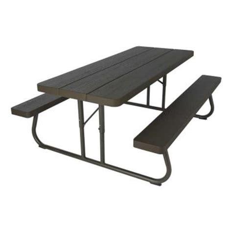 folding wood table home depot lifetime wood grain folding picnic table 60105 the home