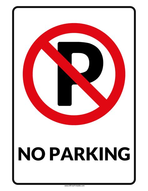 parking signs poster template
